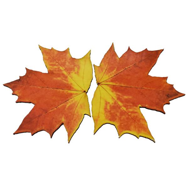 زیر لیوانی مدل برگ پاییزی مدل fall پک دو عددی