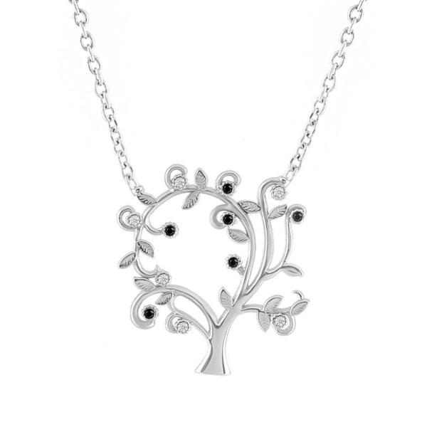 گردنبند نقره زنانهطرح درخت کد FL129