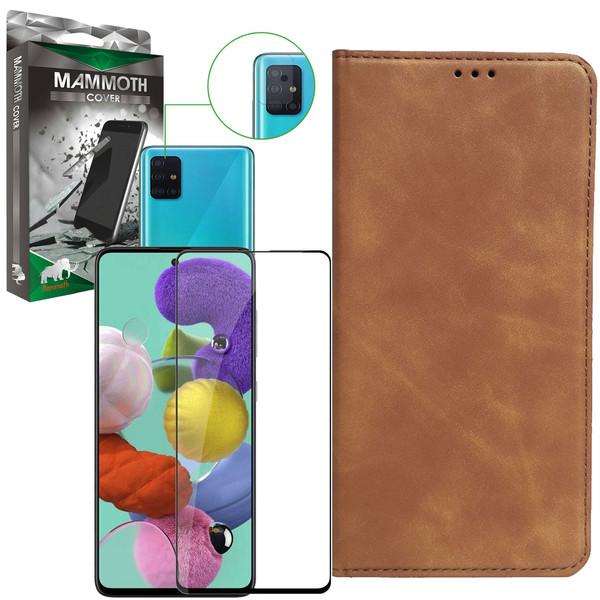 کیف کلاسوری ماموت مدل KLSR مناسب برای گوشی موبایل سامسونگ Galaxy A51 به همراه محافظ صفحه نمایش و محافظ لنز دوربین