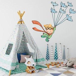 استیکر دیواری کودک مدل شازده کوچولو و پرنده ها