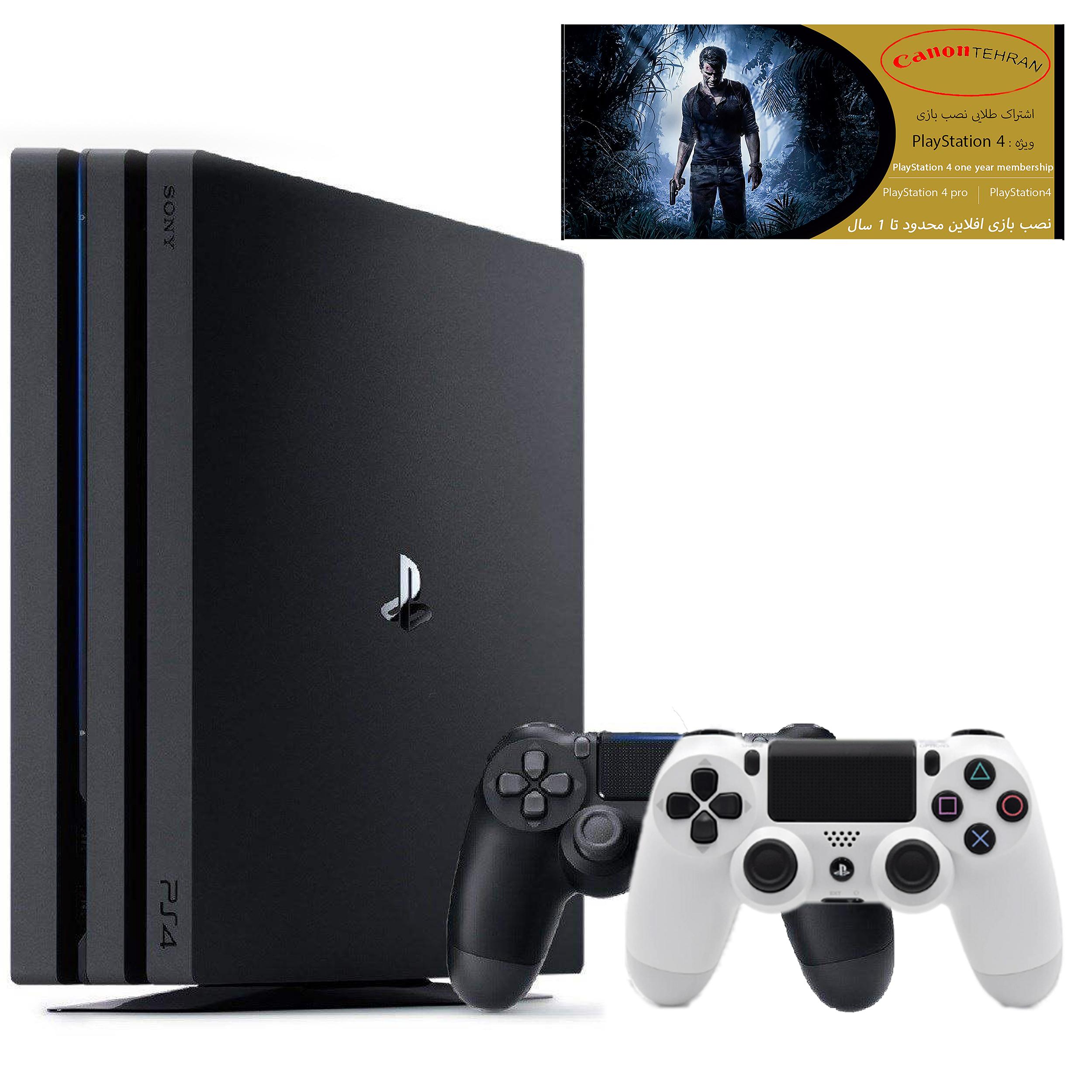 کنسول بازی سونی مدل Playstation 4 Pro ریجن 2 کد CUH-7216B ظرفیت 1 ترابایت به همراه 20 عدد بازی