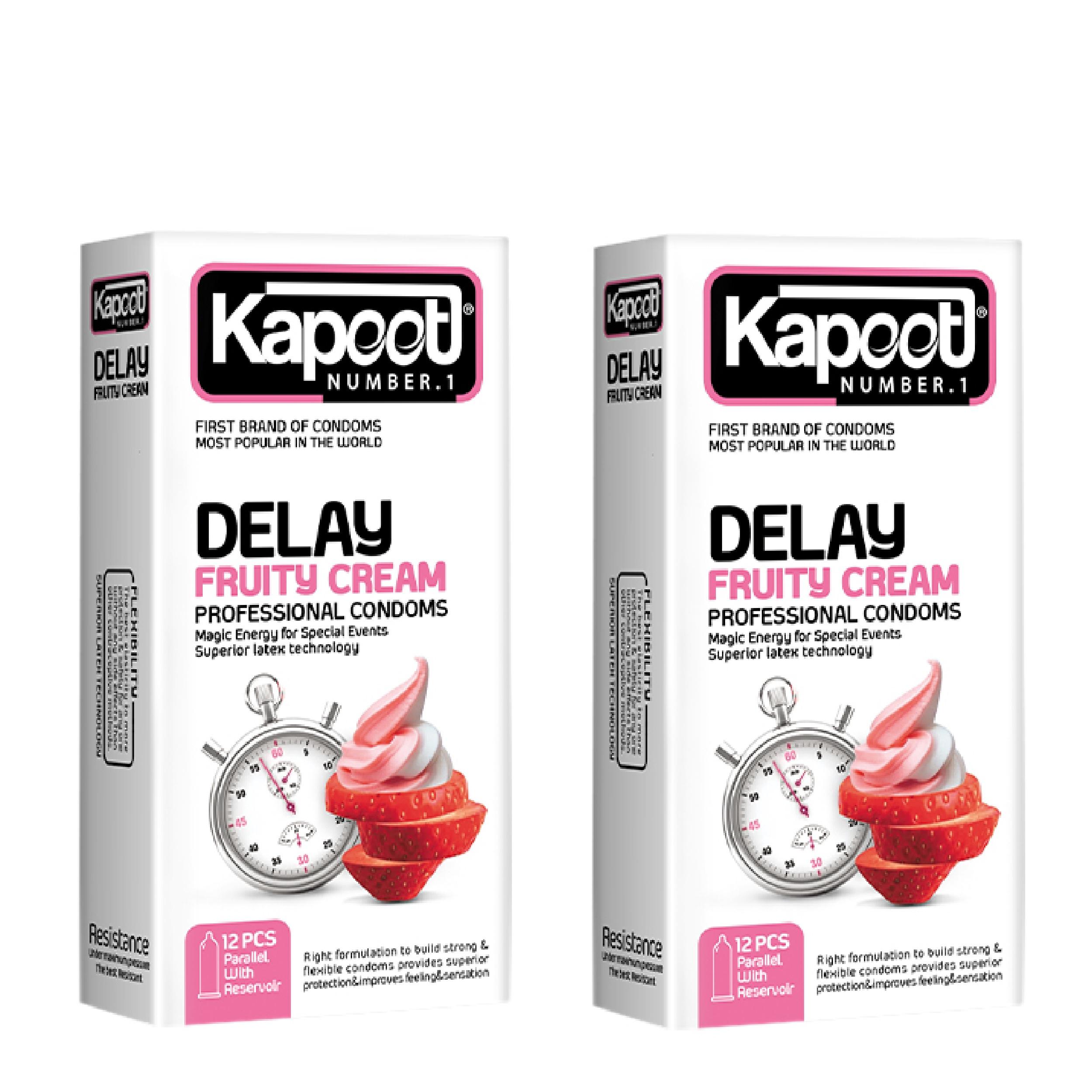 کاندوم کاپوت مدل Delay Fruity Cream مجموعه 2 عددی
