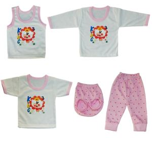 ست 5 تکه لباس نوزادی کد 5555SOSH