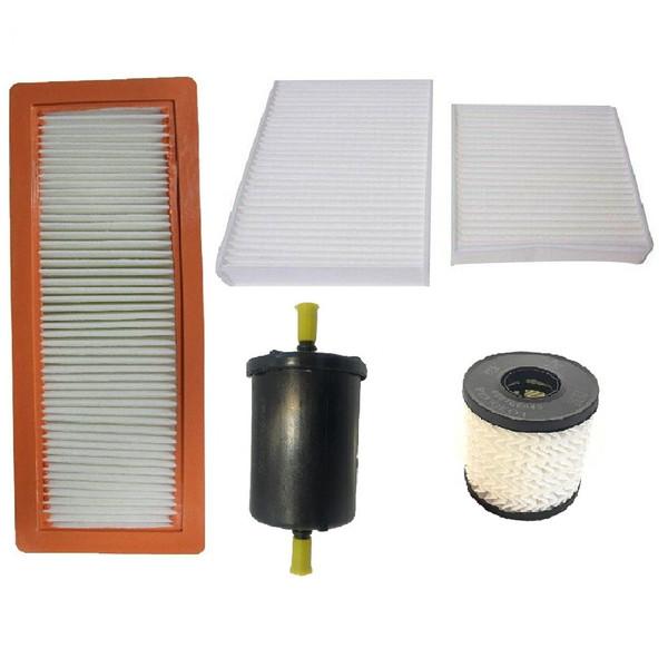 فیلتر هوا خودرو آرو مدل 501301 مناسب برای پژو 2008 به همراه فیلتر کابین و فیلتر روغن و فیلتر بنزین