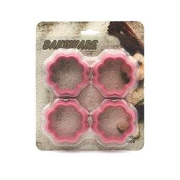 کاتر شیرینی پزی مدل گل بسته 4 عددی