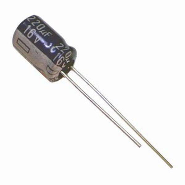 خازن الکترولیت 220 میکروفاراد کد 116 بسته 4 عددی