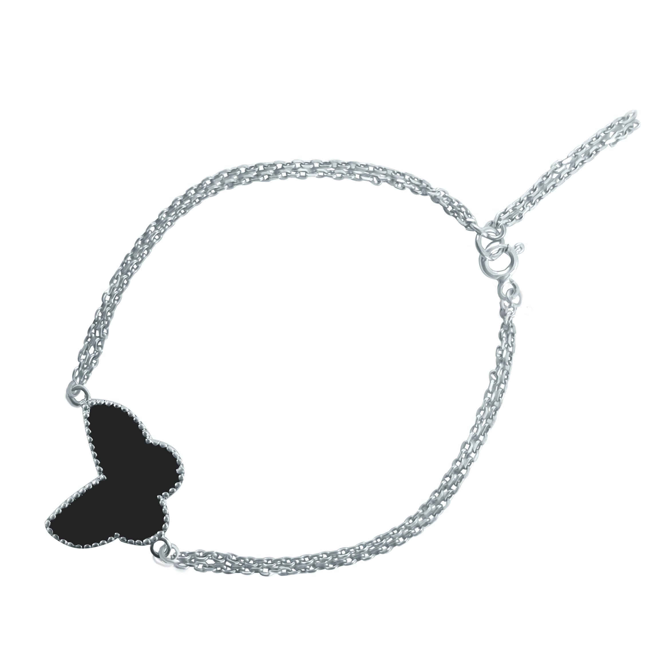 دستبند نقره زنانه مدل d005