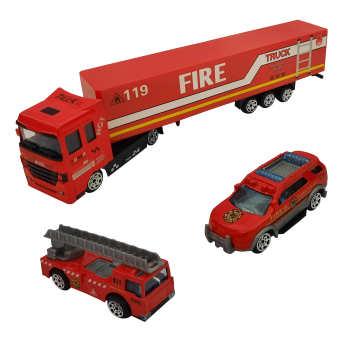 ماشین بازی مدل آتش نشانی کد 523 مجموعه 3 عددی