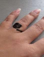 انگشتر زنانه طرح برگ کد AR12 -  - 4