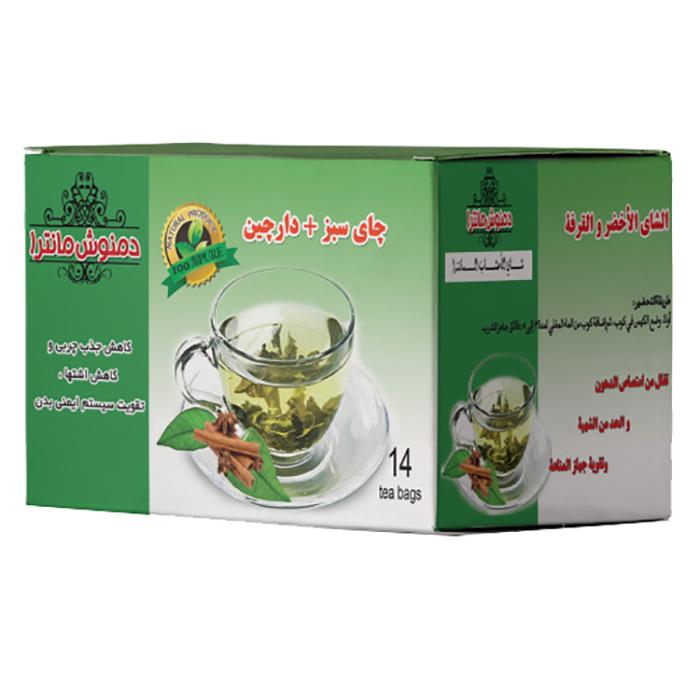 دمنوش چای سبز و دارچین مانترا بسته 14 عددی