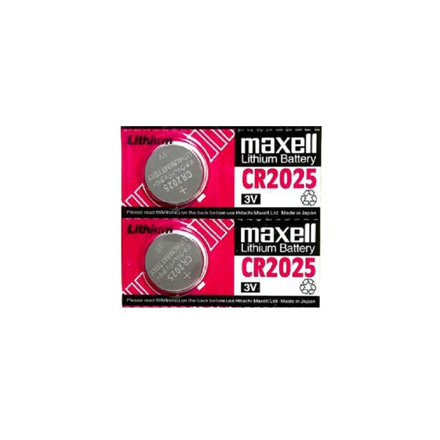بررسی و {خرید با تخفیف} باتری سکه ای مکسل مدل CR2025 بسته 2 عددی اصل