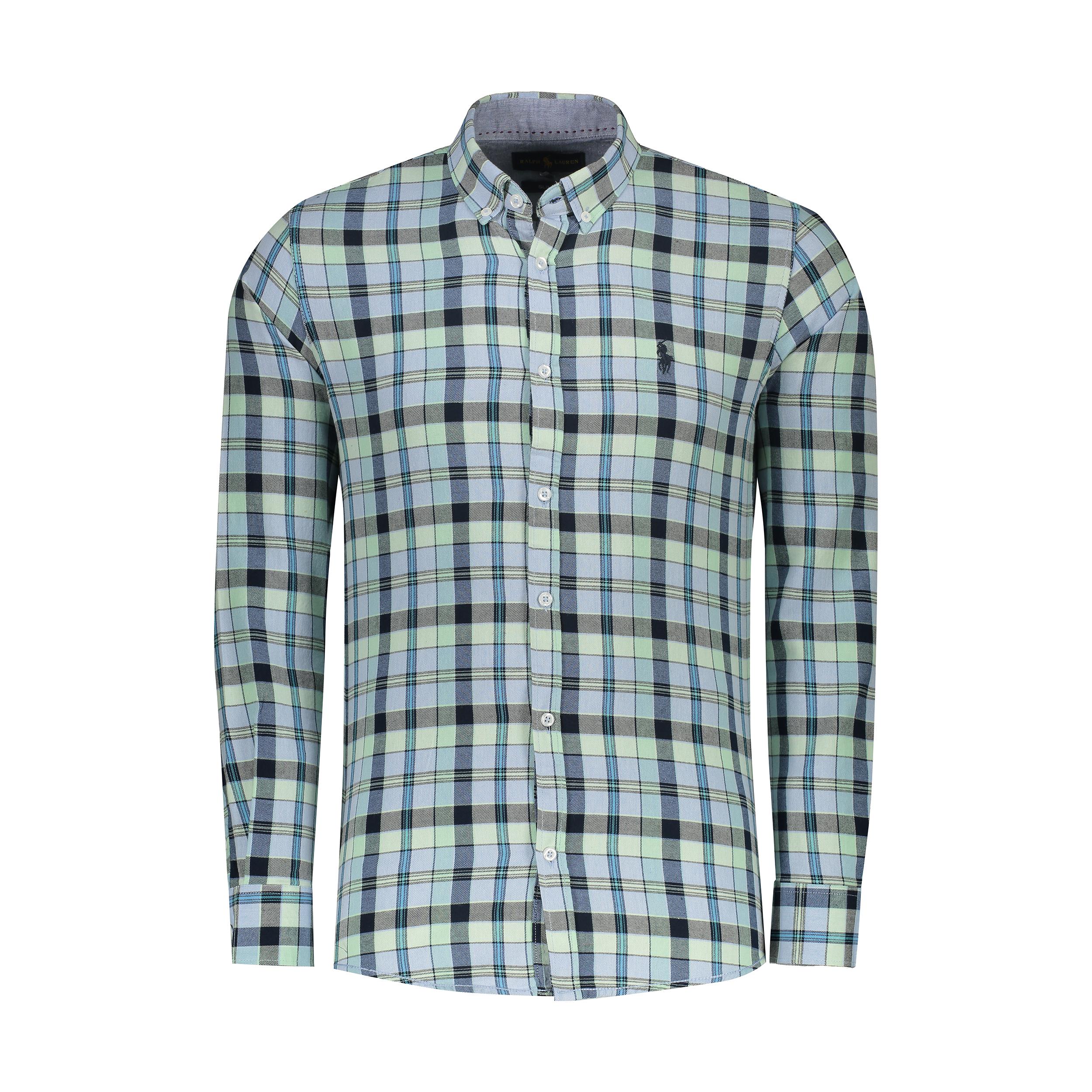 پیراهن آستین بلند مردانه پولو مدل A448