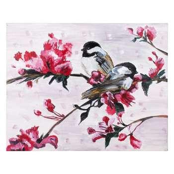 تابلو نقاشی اکرلیک طرح پرندگان مدل 004