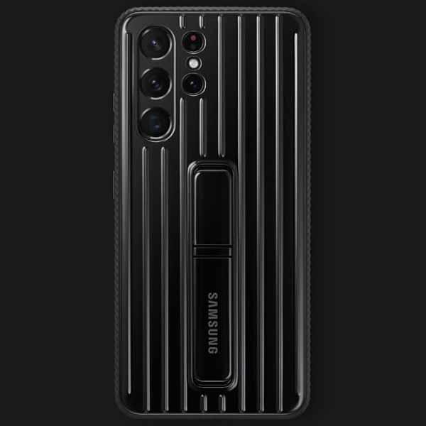 کاور سامسونگ مدل Protective Standimg مناسب برای گوشی سامسونگ Galaxy S21 Ultra