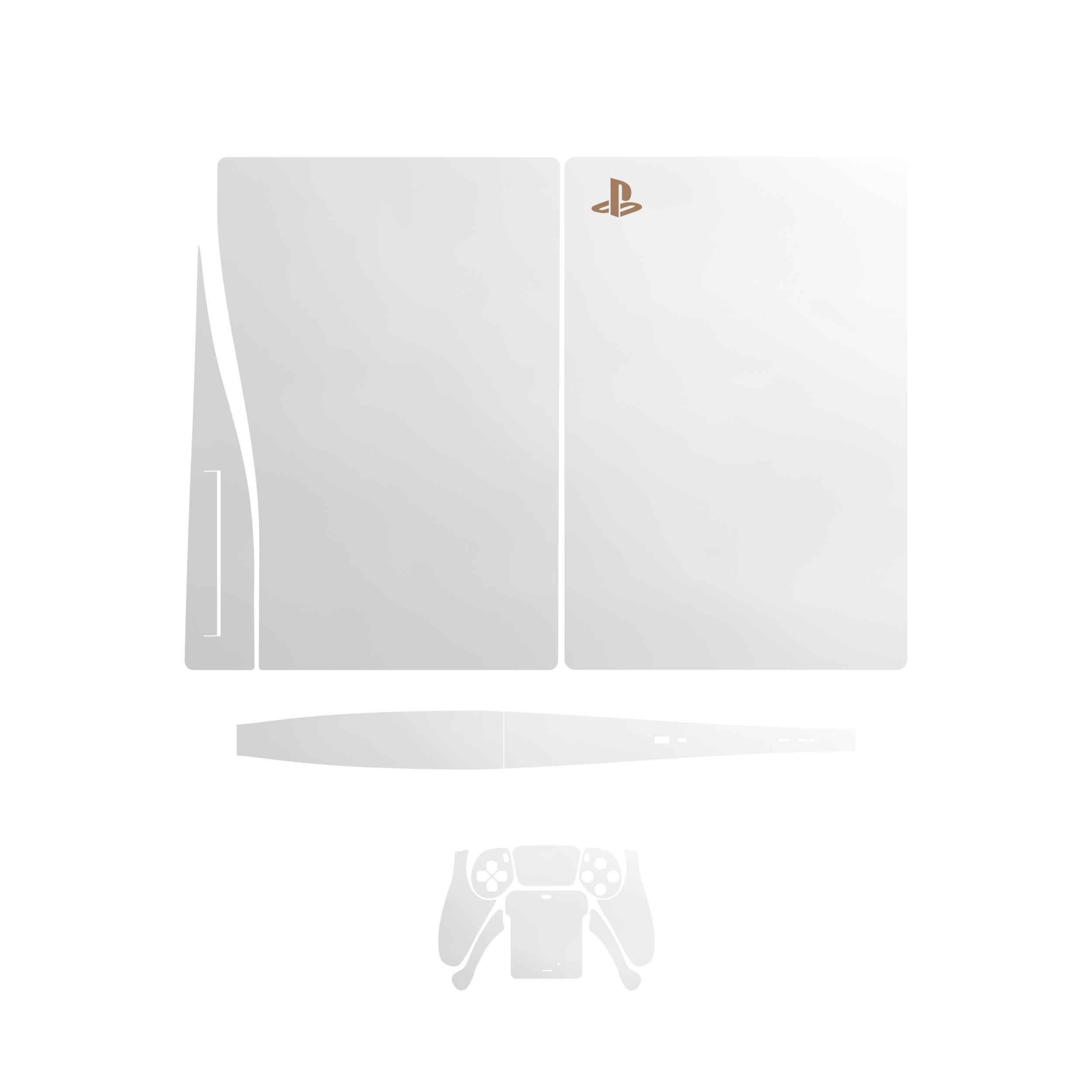 بررسی و {خرید با تخفیف}                                     برچسب کنسول و دسته بازی PS5 ماهوتمدل  Metallic-White                             اصل