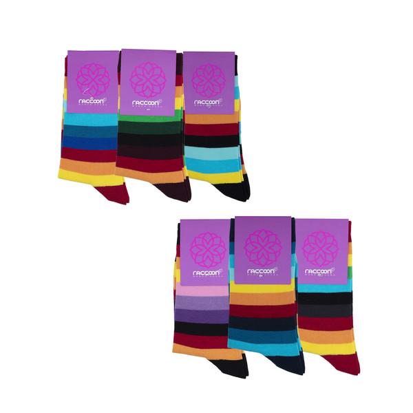جوراب زنانه راکون مدل 102447 مجموعه 6 عددی