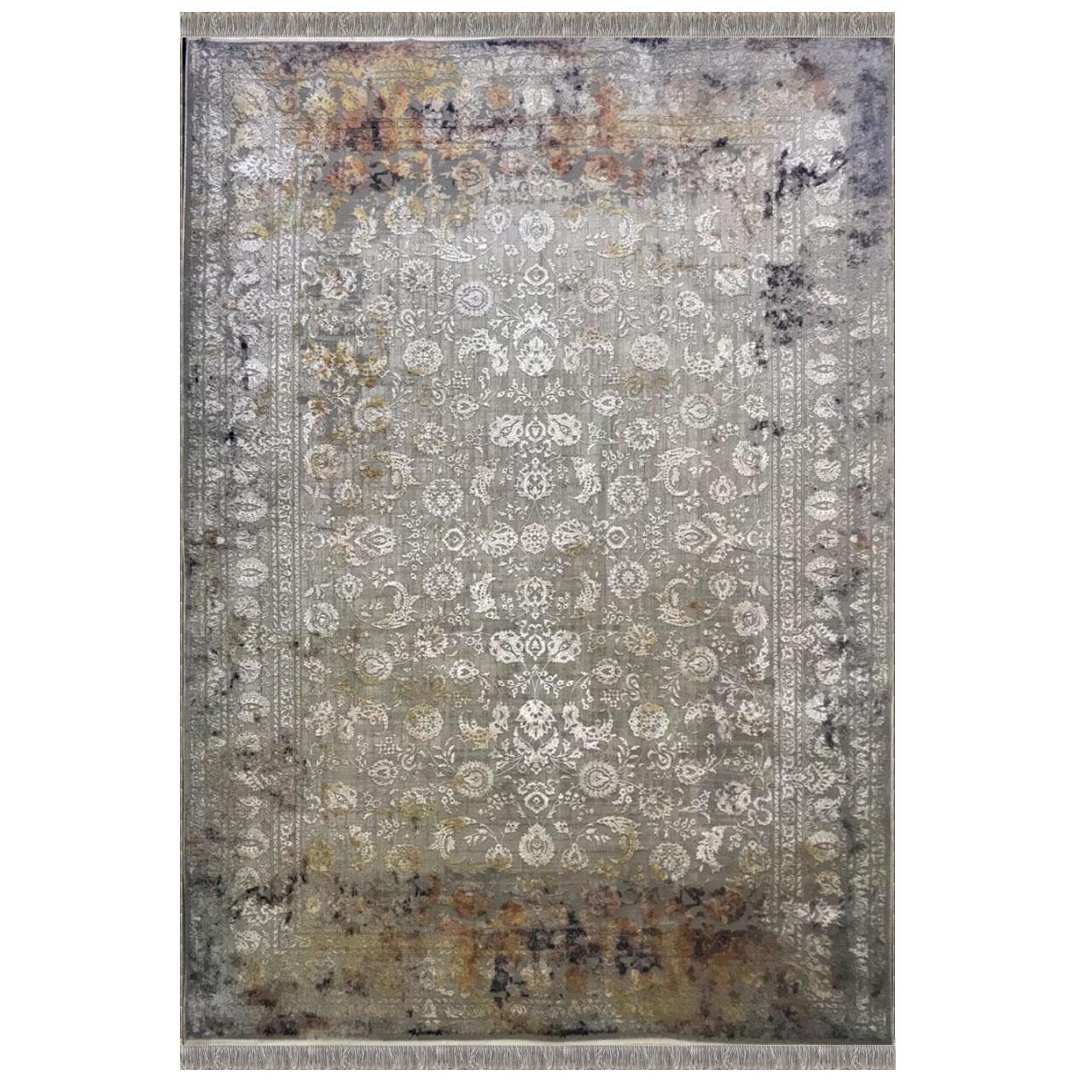 فرش ماشینی تاپ هالی کد z1141w4 زمینه طوسی