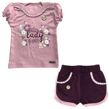 ست تی شرت و شلوارک نوزادی کوکالو مدل Little Lady