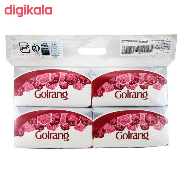 دستمال کاغذی 250 برگ گلرنگ کد 02 بسته 4عددی main 1 1