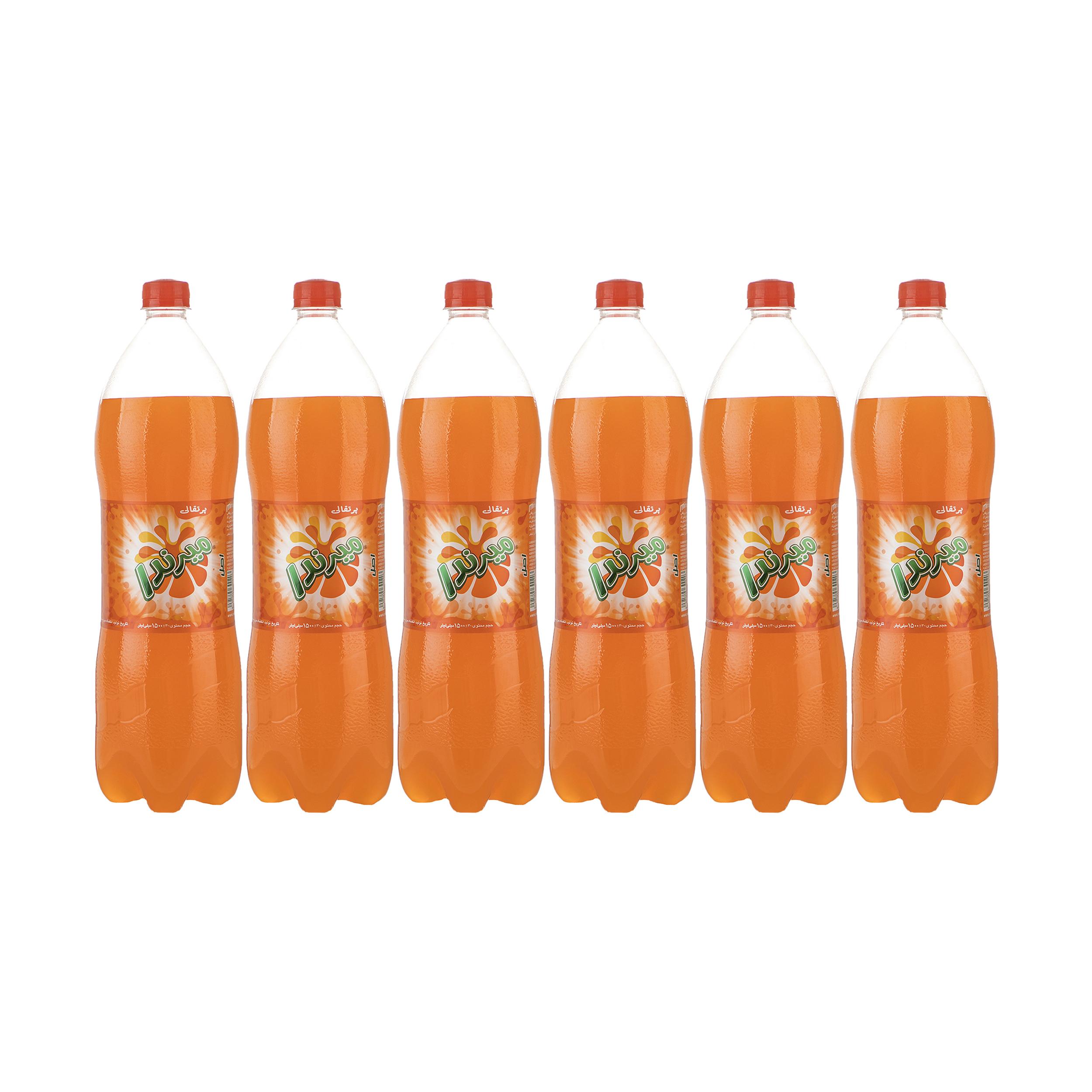 نوشابه پرتقال گازدار ميرندا - 1.5 ليتر بسته 6 عددی