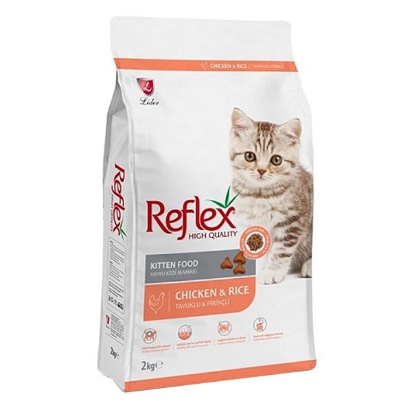 غذای خشک بچه گربه رفلکس مدل Chiken وزن 15 کیلوگرم