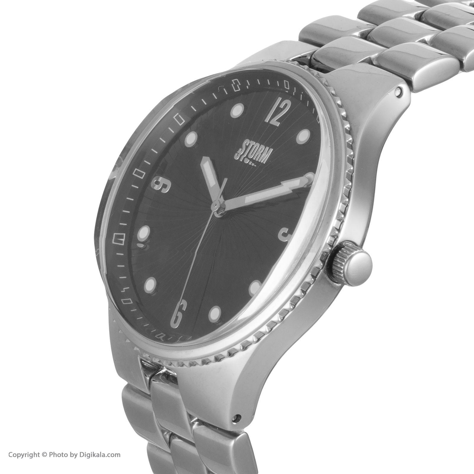ساعت مچی عقربه ای زنانه استورم مدل ST 47148-BK -  - 4