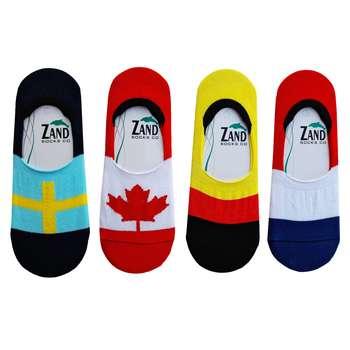 جوراب مردانه زند طرح پرچم کد PM - 404 مجموعه 4 عددی