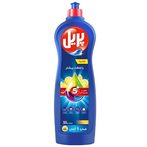 مایع ظرفشویی پریل 5+ با رایحه لیمو مقدار 1 کیلوگرم