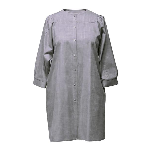 مانتو زنانه دِرِس ایگو کد 1100049 رنگ خاکستری