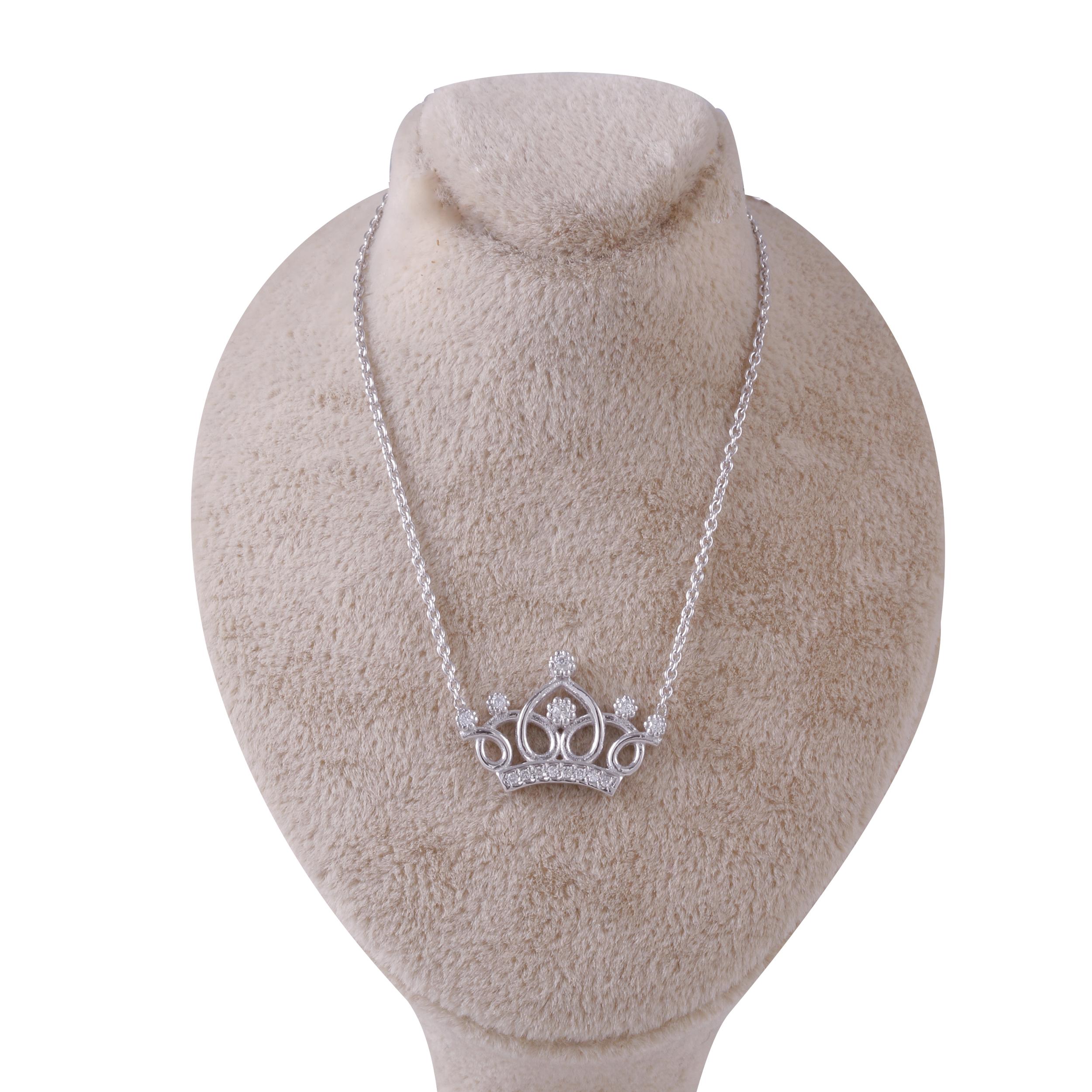 گردنبند طلا 18 عیار زنانه جواهری گاندی مدل 30124