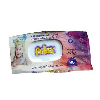 دستمال مرطوب کودک ریلکس بیبی مدل 90 بسته 90 عددی