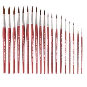 قلم مو گرد ره آورد مدل هنرجویی کد 1375 مجموعه 19 عددی