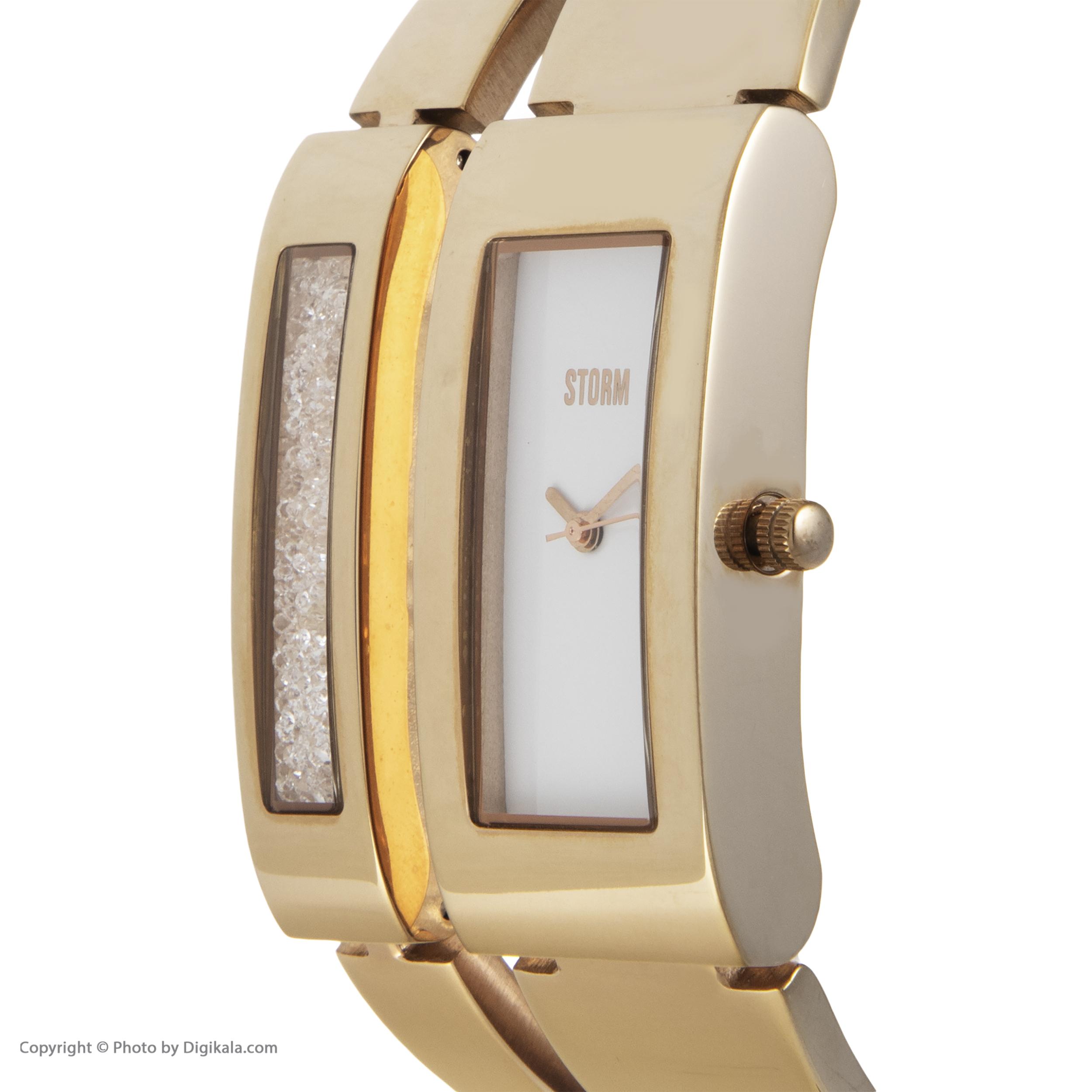ساعت مچی عقربه ای زنانه استورم مدل ST 47162-GD -  - 5
