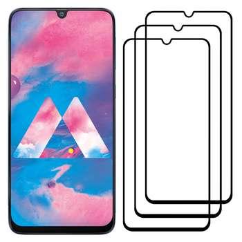 محافظ صفحه نمایش مدل FCG مناسب برای گوشی موبایل سامسونگ Galaxy M30 بسته سه عددی