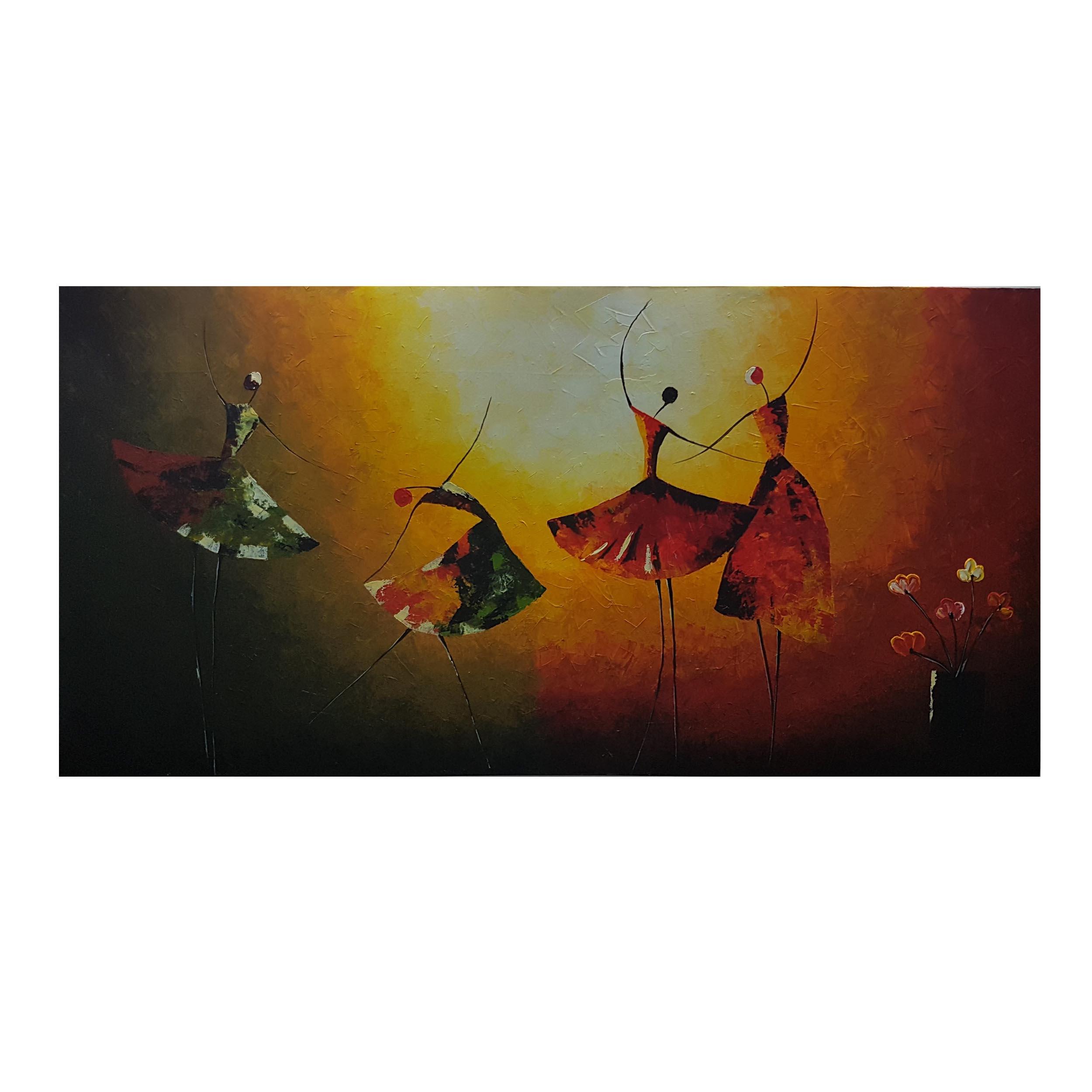 تابلو نقاشی اکریلیک طرح بالرین کد 120