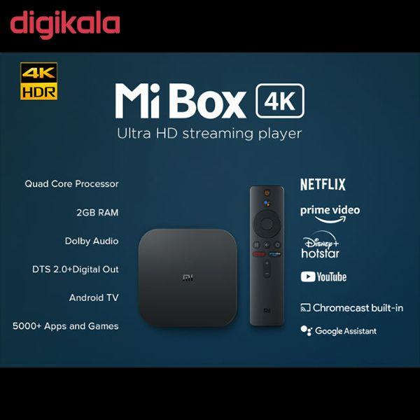 پخش کننده خانگی شیائومی  مدل Mi Box 4K  MDZ-22-AB main 1 2