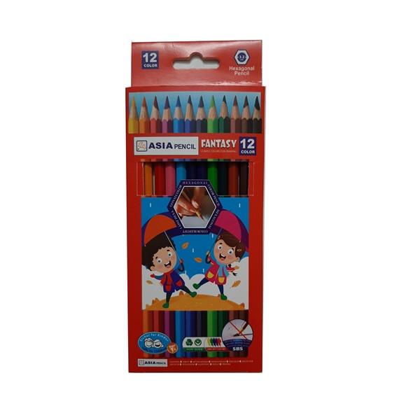 مداد رنگی 12رنگ آسیا کد 01