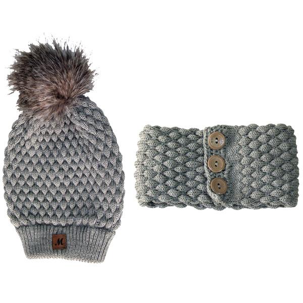 ست کلاه و شال گردن بافتنی بچگانه مدل A200