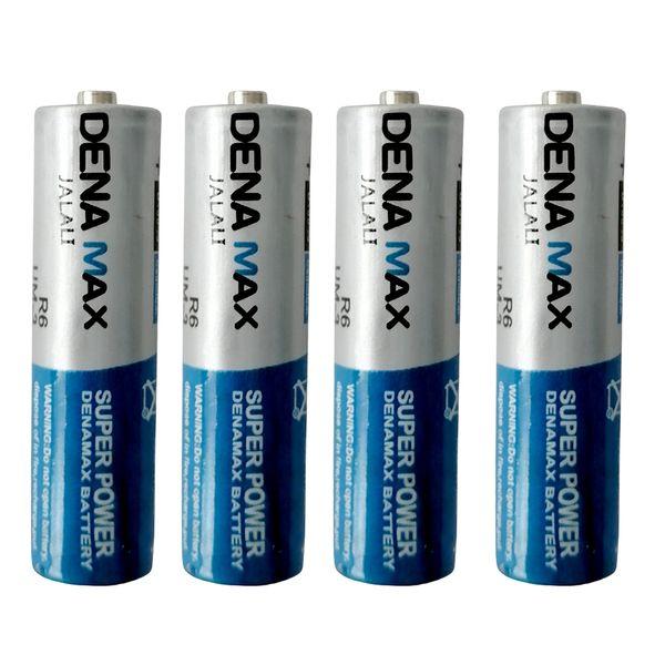 باتری نیم قلمی دنا مکس مدل R03P بسته 4 عددی