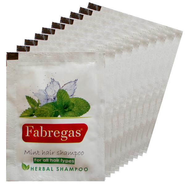 شامپو مو فابریگاس مدل نعناع حجم 10 میلی لیتر بسته 10 عددی