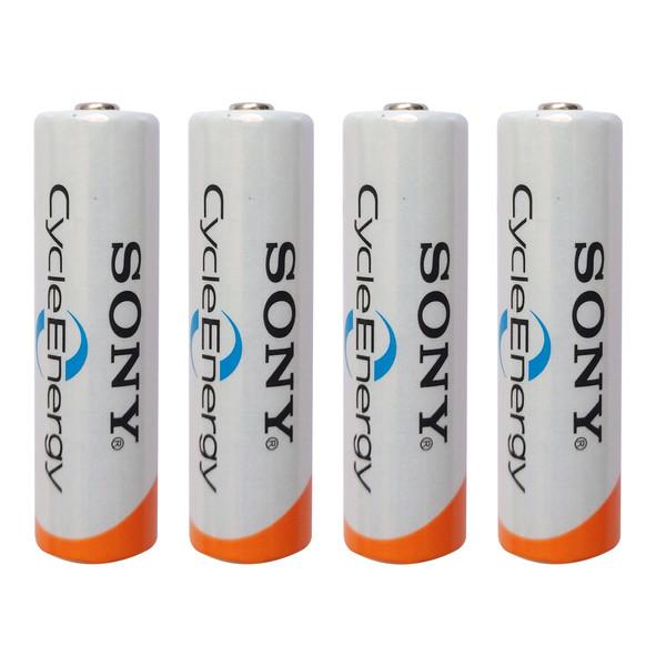 باتری قلمی قابل شارژ سونی کد HR15/51 ظرفیت 2000 میلی آمپرساعت بسته 4 عددی