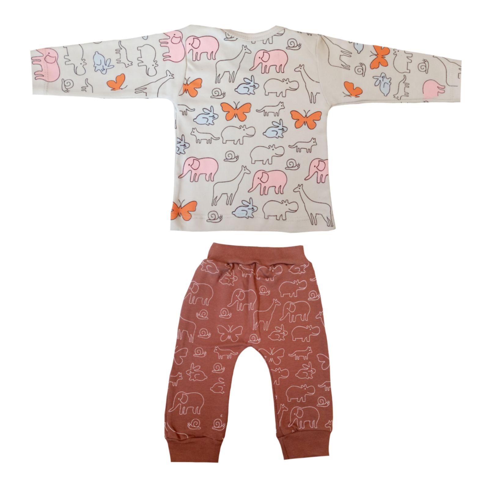 ست تی شرت و شلوار نوزادی کد 409 -  - 5