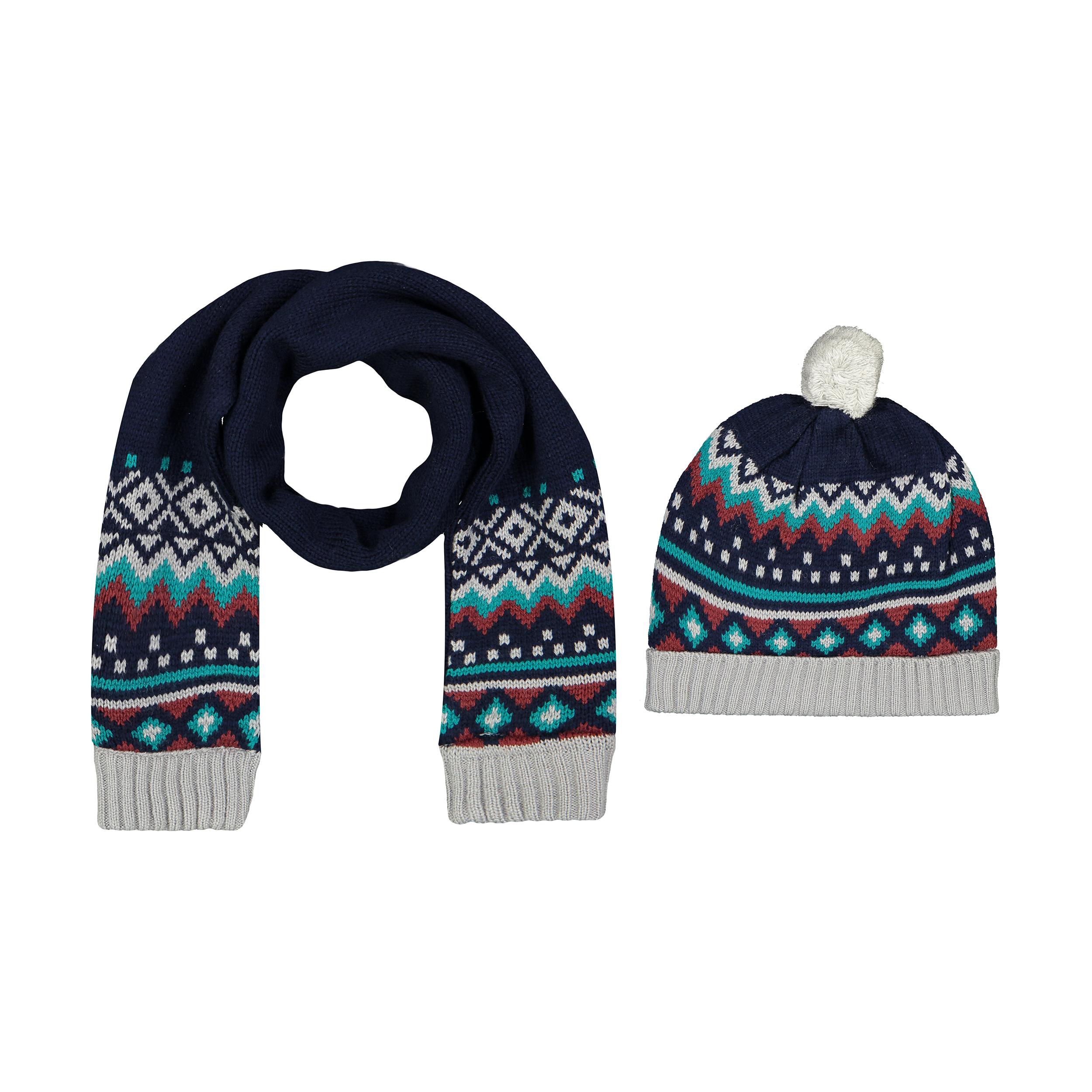 ست کلاه و شال گردن بافتنی نوزادی فیورلا کد 3811