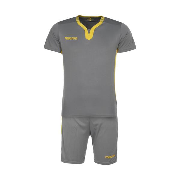 ست تی شرت و شلوارک ورزشی مردانه مکرون مدل کاناپوس رنگ طوسی