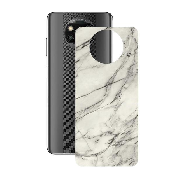 برچسب پوششی راک اسپیس طرح Marble-WH مناسب برای گوشی موبایل  شیائومی POCO X3 Pro