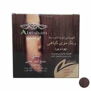 پودر رنگ مو ابریشم مدل CO101 وزن 130 گرم رنگ قهوه ای تیره متوسط