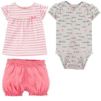 ست 3 تکه لباس نوزادی دخترانه کارترز کد 1305