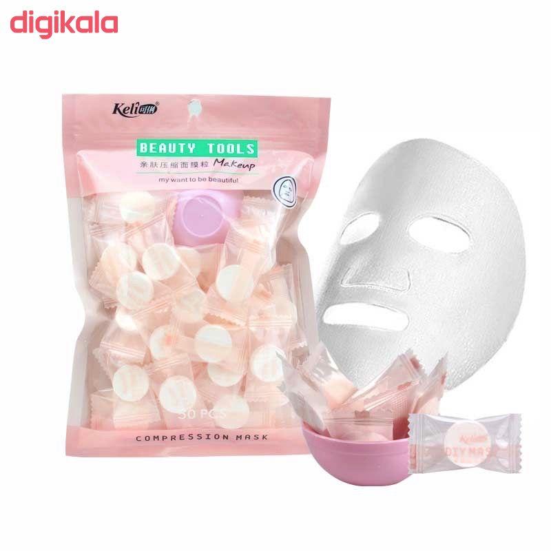 قرص ماسک ورقه ای صورت کلی مدل k50 بسته 50 عددی main 1 2