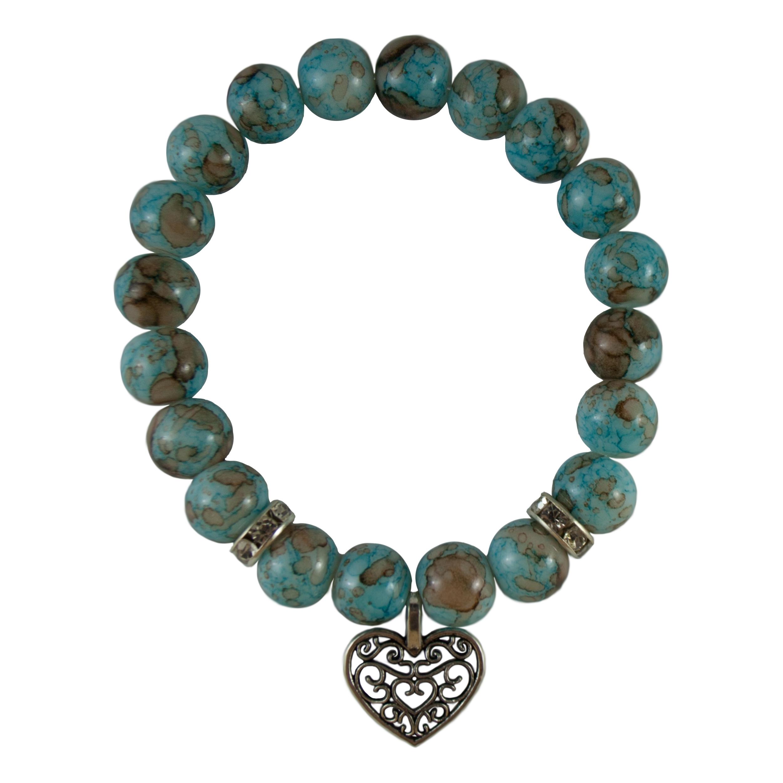 دستبند دخترانه طرح قلب کد 1022
