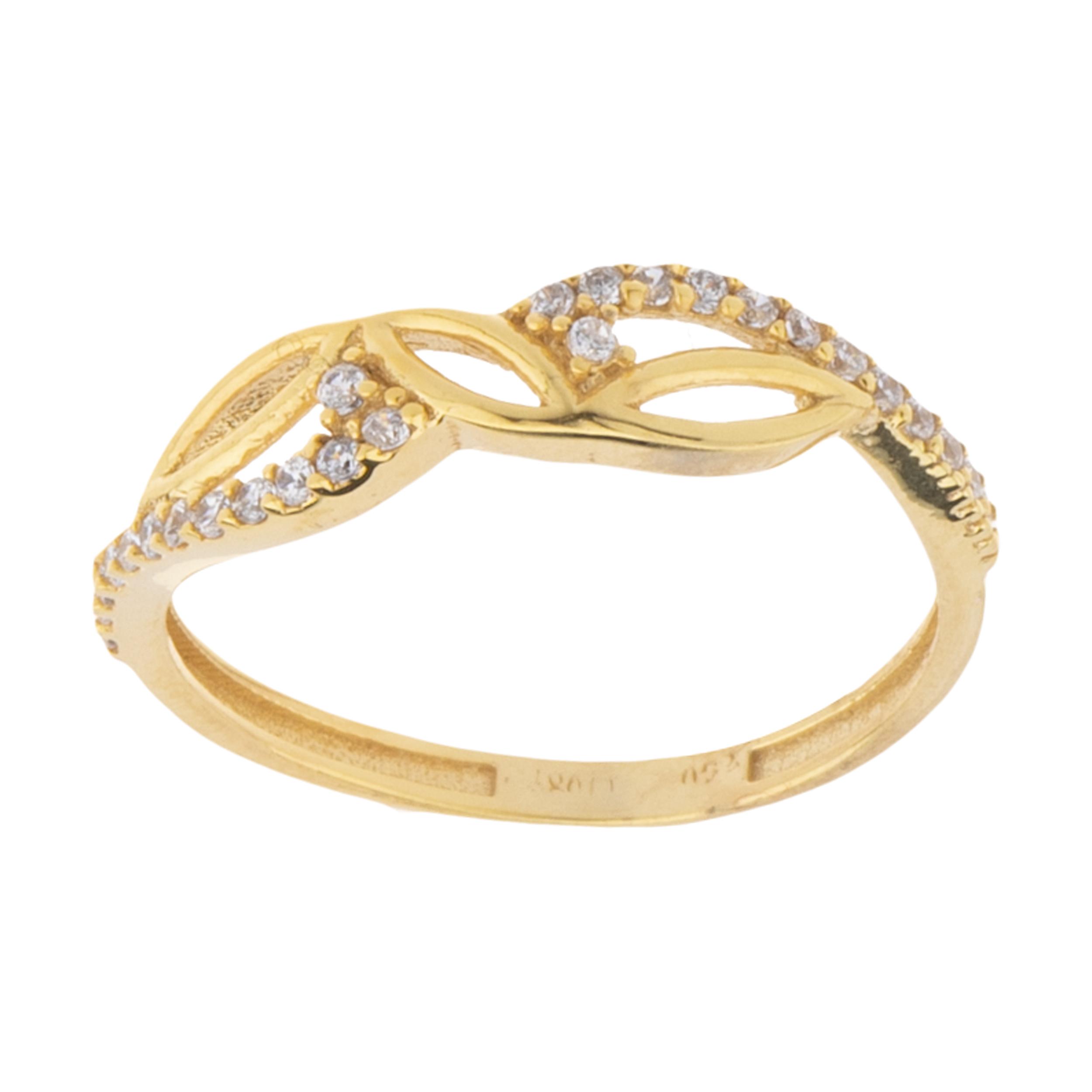 انگشتر طلا 18 عیار زنانه کانیار گالری کد AT5